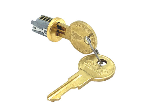Compx Timberline Key Plug, Brass C500LP-KD-3