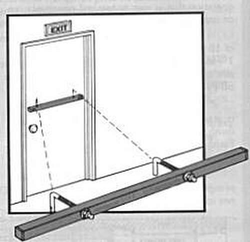 "Exit Security Bar SB-01-0032, for 32"" Door"