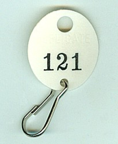 Lund 504 Key Tags, Numbered Oval White Fibre
