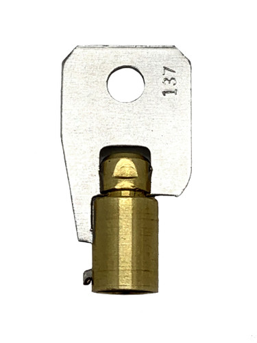 Key blank, Jet 137B Tubular Steel/Brass