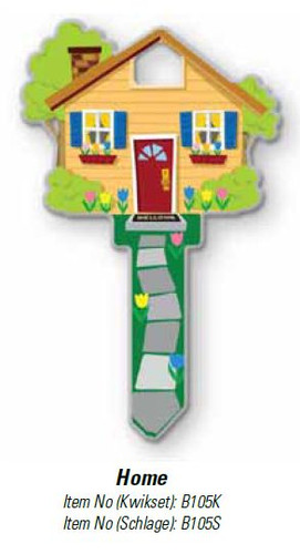 Key Shapes, Lucky Line Key Blank Home B105S