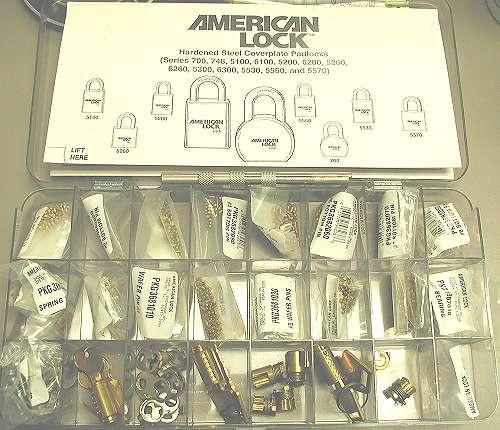 American Lock ASK8 Rekey Kit, Pinning Kit for American Padlock