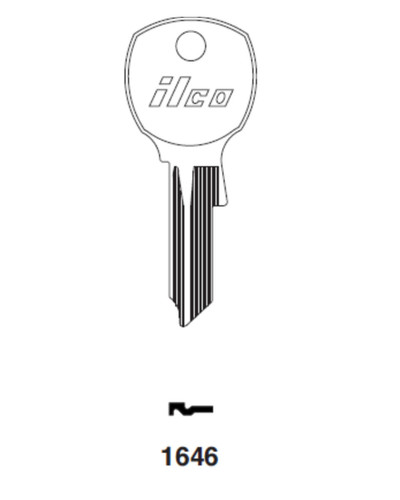 Key blank, Ilco 1646 for National Mailbox D4300
