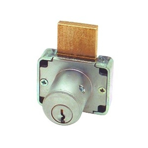 Olympus 200DW 7/8 Desk Lock, Brushed Chrome/26D, Keyed Different