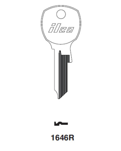 Key blank, Ilco 1646R for National Mailbox D4301