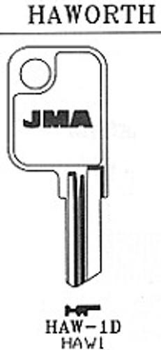 JMA HAW1D Key Blank for Haworth HK1