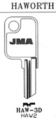 JMA HAW3D Key Blank for Haworth HK2
