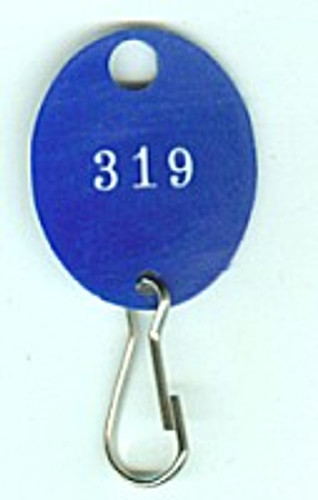 Lund 504-C Key Tag, Oval Blue Numbered