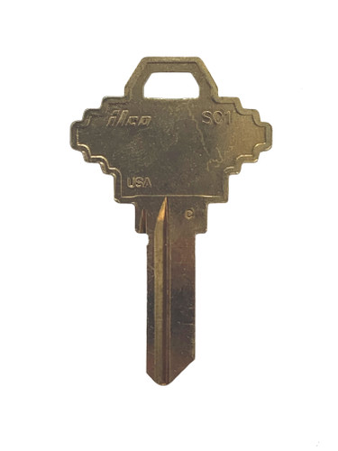 Key blank, SC1 BIG, Large Head Key