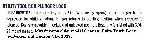ESP/Hudson 1062STD/GDC2329 Push Locks, Truck Tool Box KA2 (Pair)