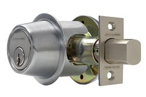 Schlage B560P 626 Deadbolt, S/C Satin Chrome Finish
