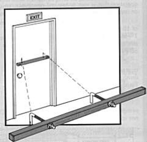 "Exit Security Bar, Fits 96"" Double Door"