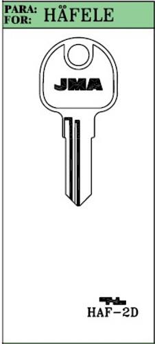 Key blank, JMA HAF2D for Hafele