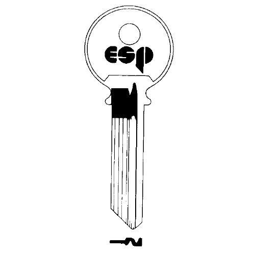 Key Blank, ESP Y4 for Yale, 998 6-pin