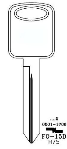 Key blank, JMA FO15DE for Ford H75