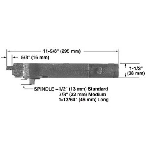 Door Closer, 20-330 105 (HO) RD Body Only, 20-101M-02