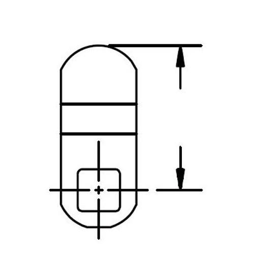 """ESP MCA489-0701 Offset Cam, 1-7/16"""", 3/8"""""""