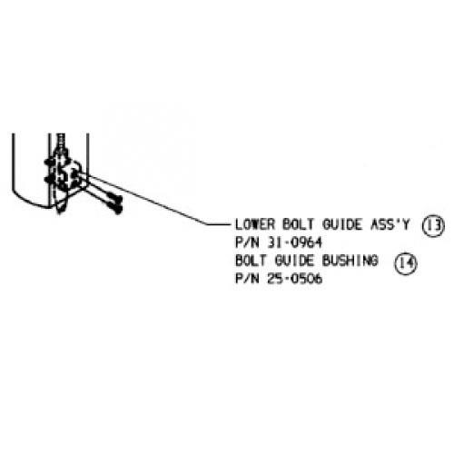 Adams Rite 31-0964-IP 8600 Lower Bolt Guide