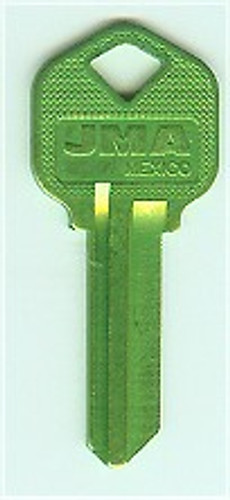 Key blank, JMA KWI1 Aluminum Green for Kwikset KW1
