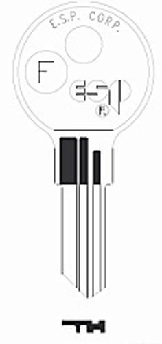 Key blank, Kimball F/QUI-K2