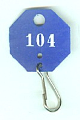 Lund 507-C Key Tags, Octagonal Blue Numbered