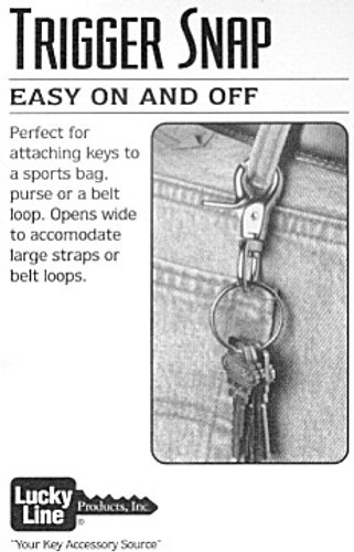 Lucky Line 44001 Key Ring Trigger Snap Solid Brass