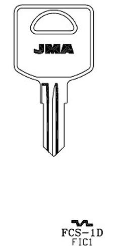 Key blank, JMA FCS1D for FIC 1617/FIC1