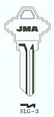 Key blank, JMA SLG3 Aluminum Green, SC1
