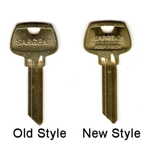 Key blank, Sargent 6275LG OEM LG 6-pin