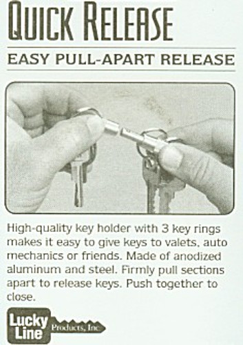 Key ring, Quick Release Pull-Apart 3 Way 71701