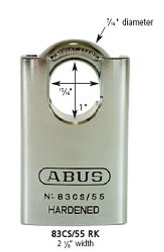 ABUS 83CS/55-300 Padlock, Schlage (Zero-Bitted)