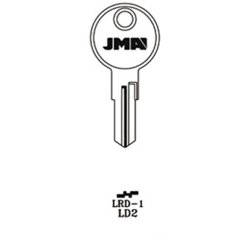 Key blank, JMA LRD1 for Larson 1640