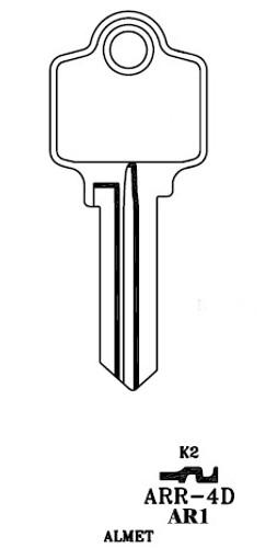 Key blank, JMA ARR4DE for Arrow 5 PIN