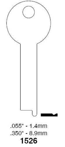 Key Blank, Ilco 1526 Mosler