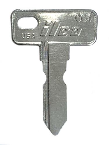 Key blank, Ilco CC1 Club Car Golf Cart