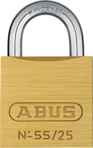 Abus 55/25 Brass Body Padlock, Keyed Alike 5251