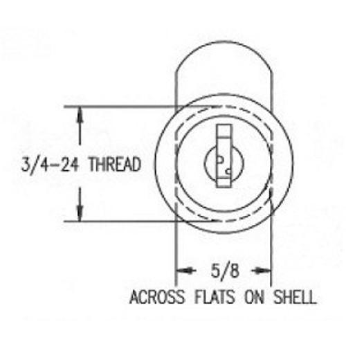 Cam Lock, 1 3/4 ESP ULR-1750-STD KA ES201