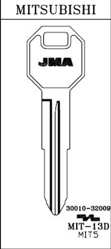 Key blank, JMA MIT13D for Mitsubishi X229/MIT5