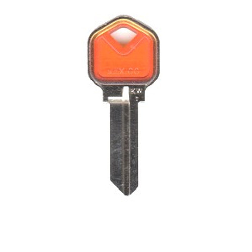 Key blank, JMA KWI1 Colormatic Orange for Kwikset KW1
