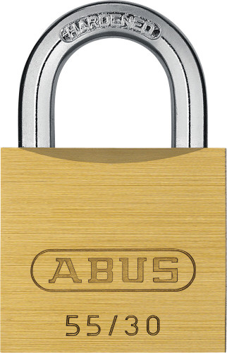 Abus 55/30 Brass Body Padlock, Keyed Alike 5302