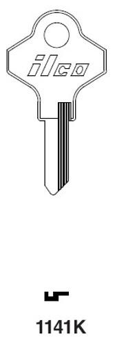Key blank, Ilco 1141K, Taylor 111B