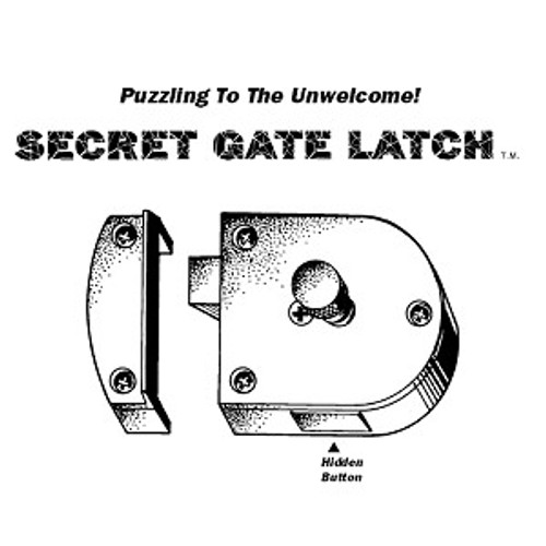 Secret Gate Latch, S200 Brass
