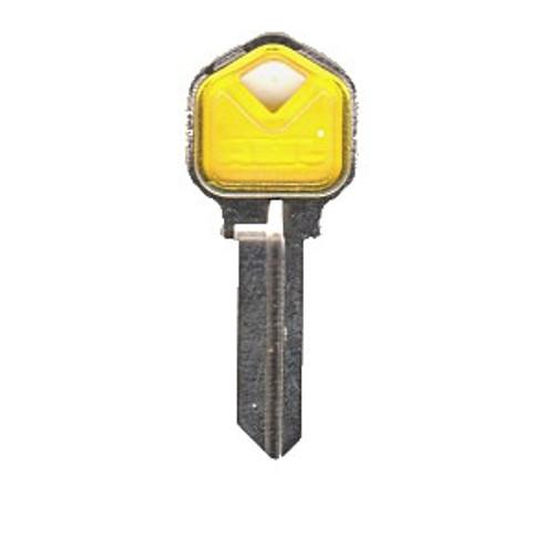 Key blank, JMA KWI1 Colormatic Yellow fior Kwikset KW1