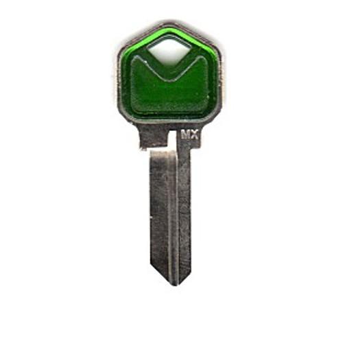 Key blank, JMA KWI1 Colormatic Green for Kwikset KW1