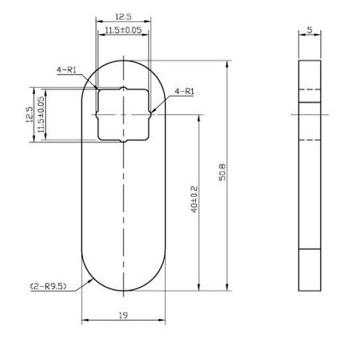 "Cam, Fits 0599, 1-1/2"" Long"