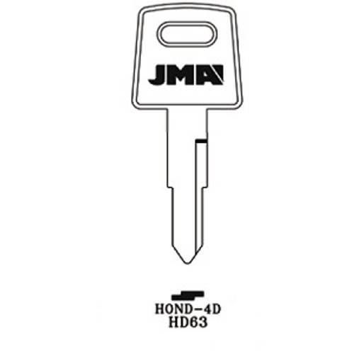Key blank, JMA HOND4D for Honda HD63/X84