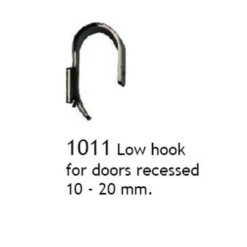 1011 Low hook, Chrome, for recessed door