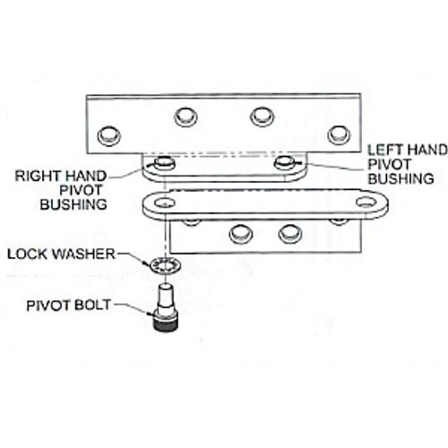 Pin and bushing kit for B1923 pivot
