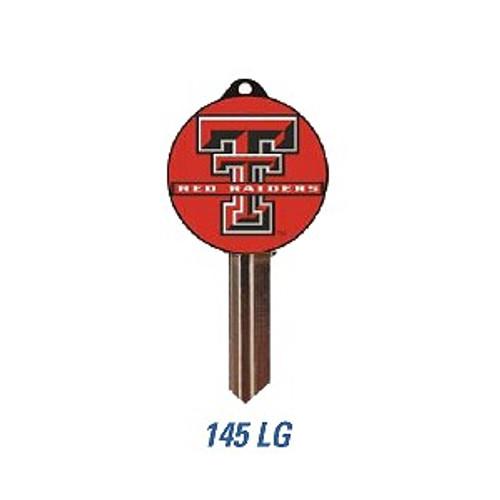 Key blank, Texas Tech Logo, Kwikset KW10