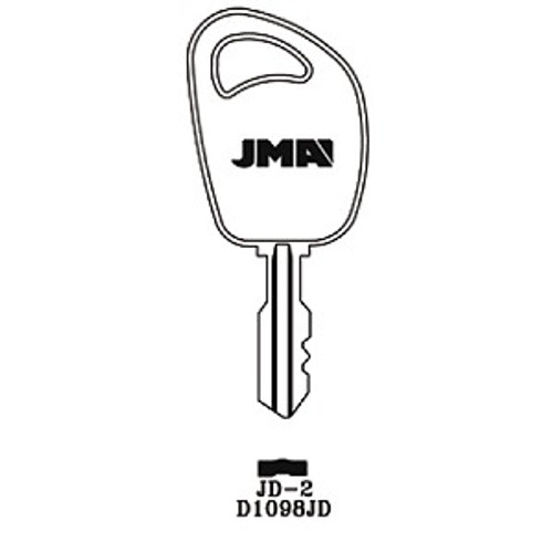 Key blank, JMA JD2 for John Deere D1098JD